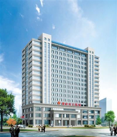 曹县县立医院病房楼效果图-2013年6月29日,曹县人民医院新院区二期