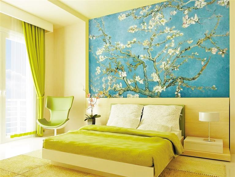 欧式浅色壁纸墙面白色家具